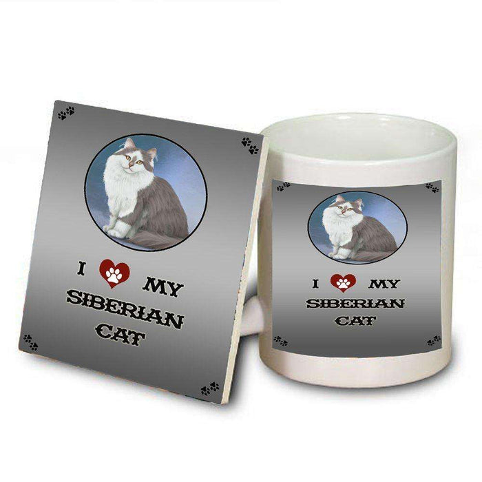 I love My Siberian Cat Mug and Coaster Set