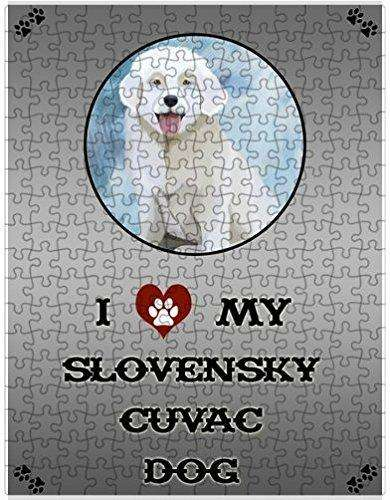 I Love My Slovensky Cuvac Dog Puzzle with Photo Tin