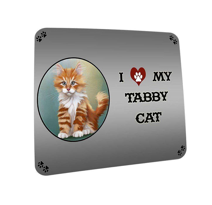 I love My Tabby Cat Coasters Set of 4