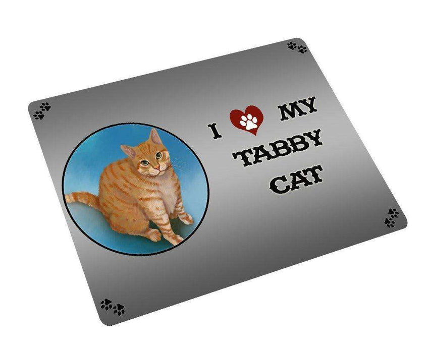 I love My Tabby Cat Large Refrigerator / Dishwasher Magnet D252