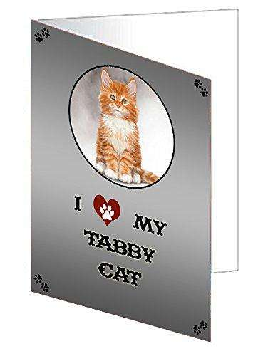 I love My Tabby Cat Note Card