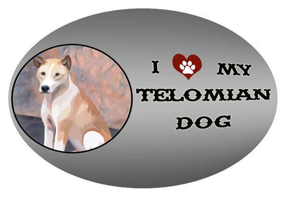 I Love My Telomian Dog Oval Envelope Seals