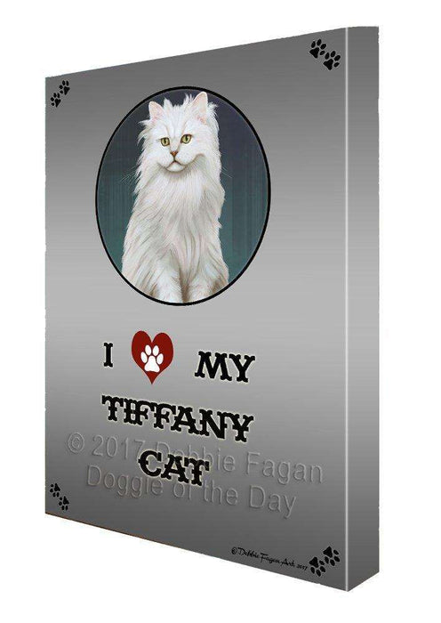 I love My Tiffany Cat Wall Art Canvas CV146