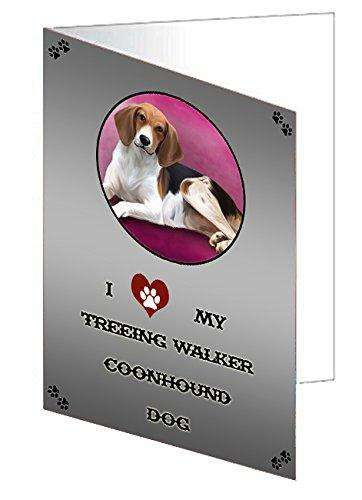 I love My Treeing Walker Coonhound Dog Note Card