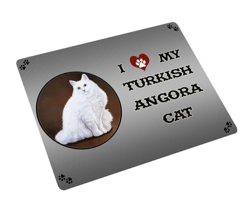 I love My Turkish Angora Cat Magnet