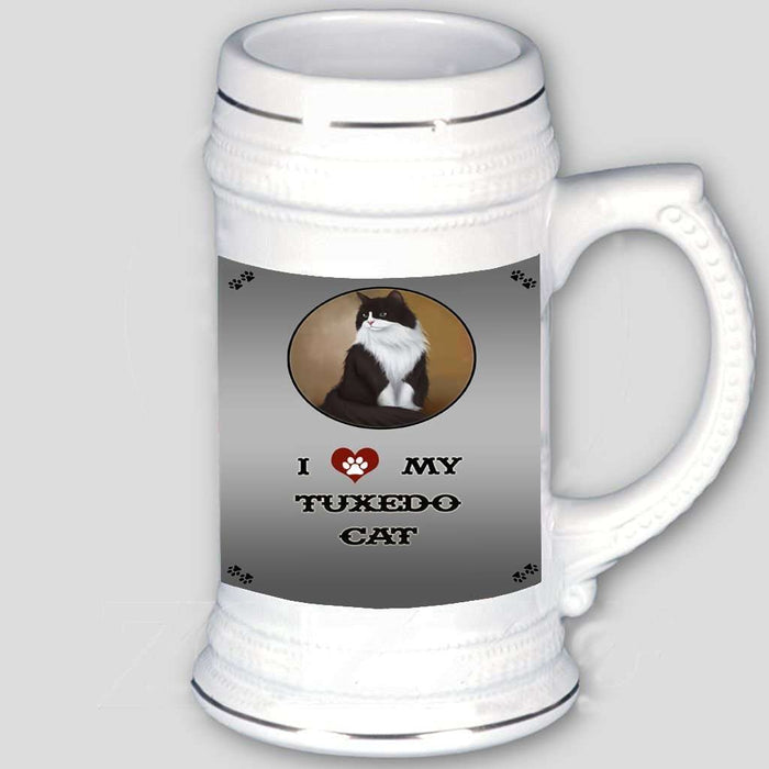 I love My Tuxedo Cat Beer Stein