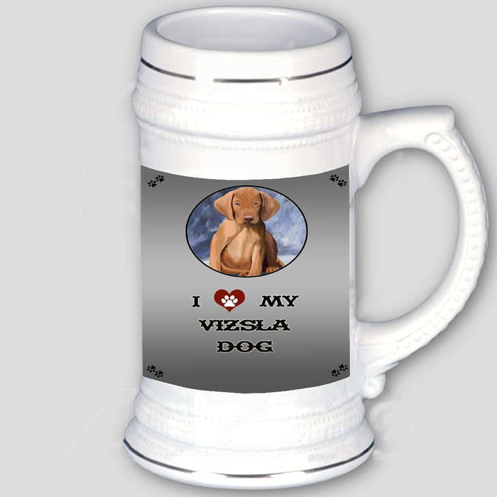 I love My Vizsla Puppy Dog Beer Stein