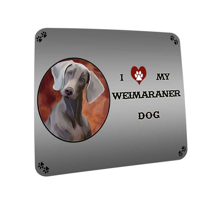 I love My Weimaraner Dog Coasters Set of 4