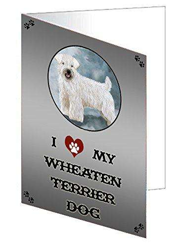 I love My Wheaten Terrier Dog Greeting Card