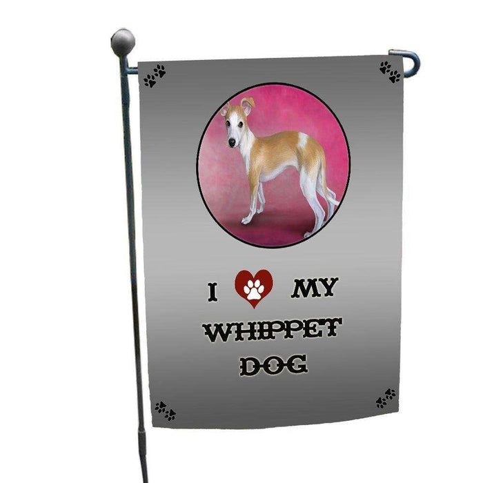 I love My Whippet Dog Garden Flag