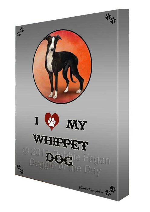 I love My Whippet Dog Wall Art Canvas CV155