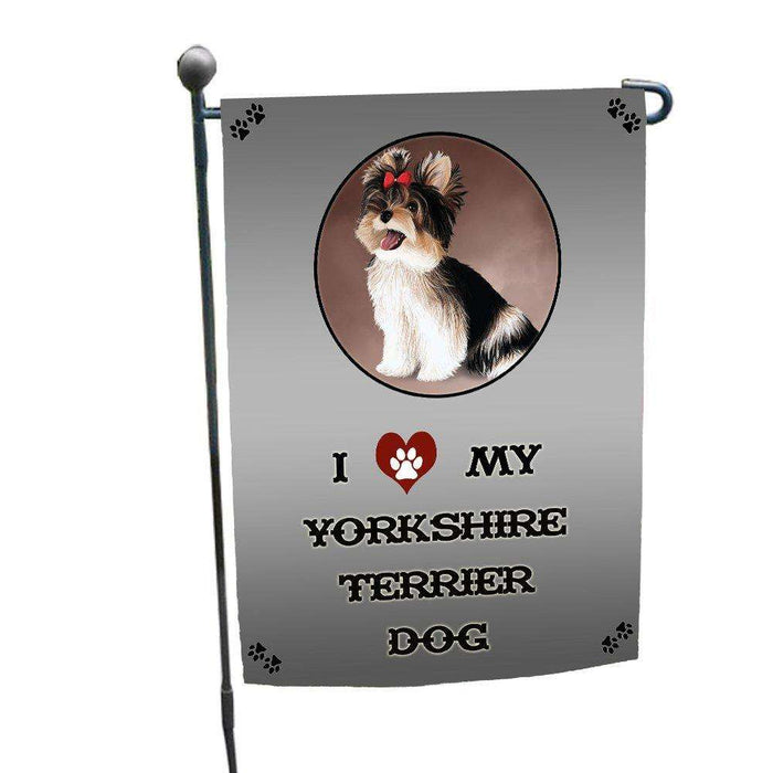 I love My Yorkshire Terrier Dog Garden Flag
