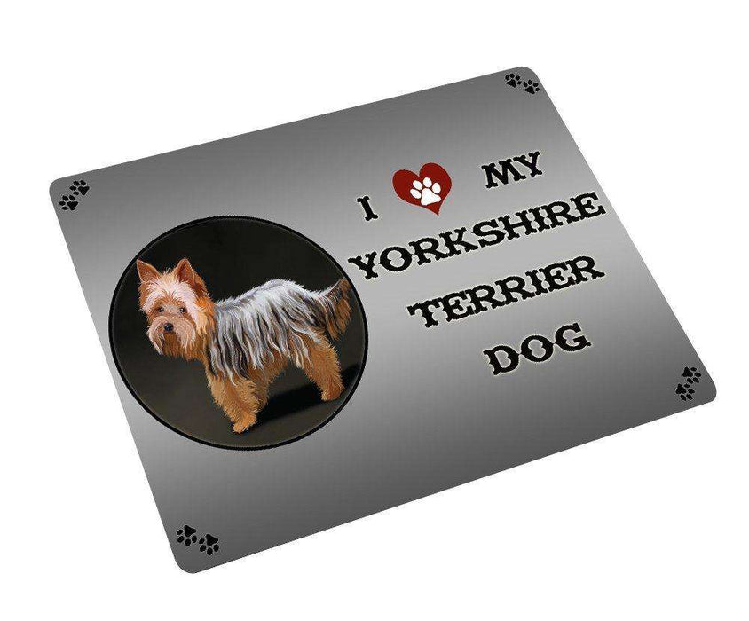 "I Love My Yorkshire Terrier Dog Magnet Mini (3.5"" x 2"") MG075"