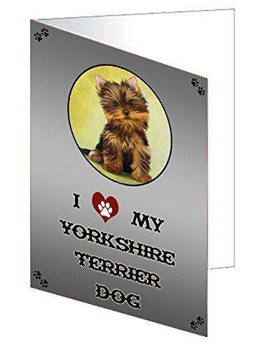 I love My Yorkshire Terrier Dog Note Card