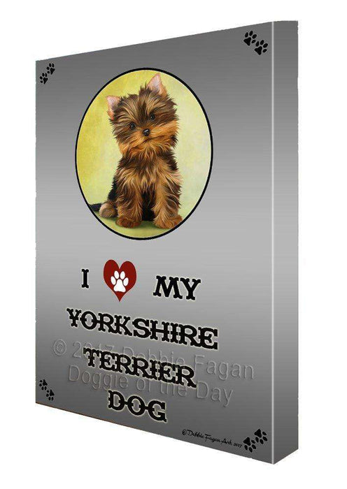 I love My Yorkshire Terrier Dog Wall Art Canvas CV161