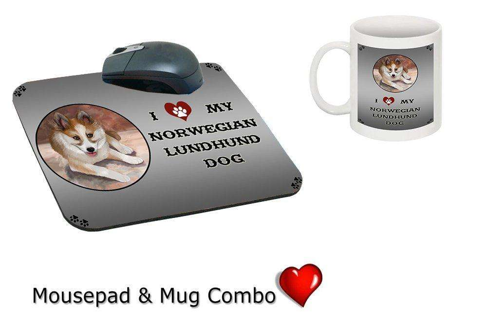 I love Norwegian Lundehund Dog Mug & Mousepad Combo Gift Set MMCG0721