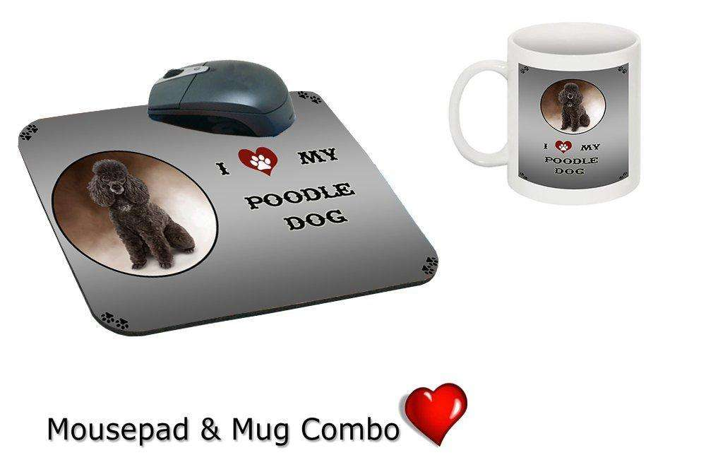 I love Poodle Dog Mug & Mousepad Combo Gift Set MMCG0775