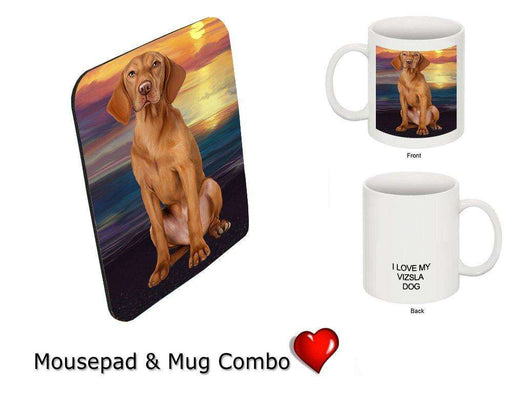 I love Vizsla Dog Mug & Mousepad Combo Gift Set MMCG1051