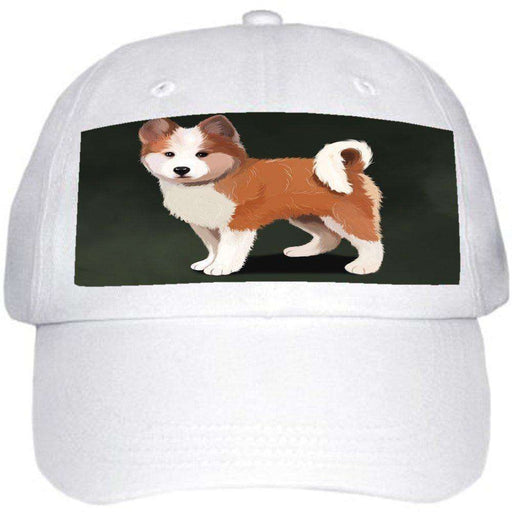 Icelandic Sheepdog Puppy Dog Ball Hat Cap Off White