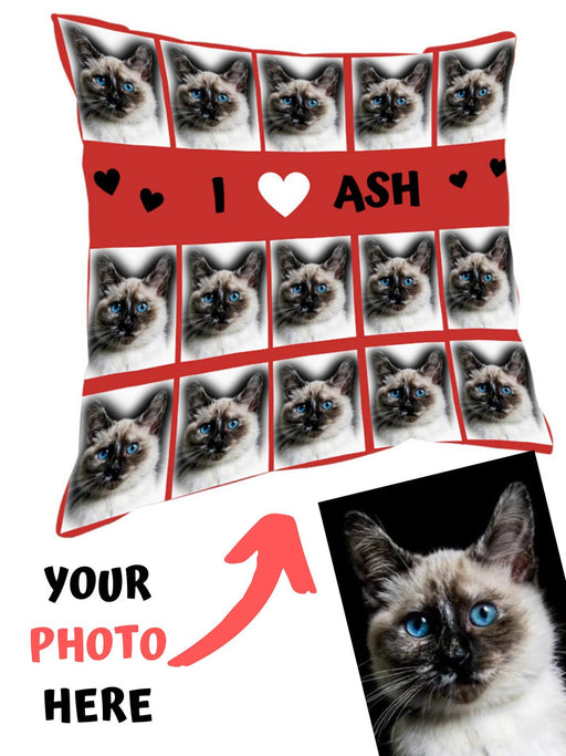 Custom Add Your Photo Here PET Dog Cat Photos on Pillow