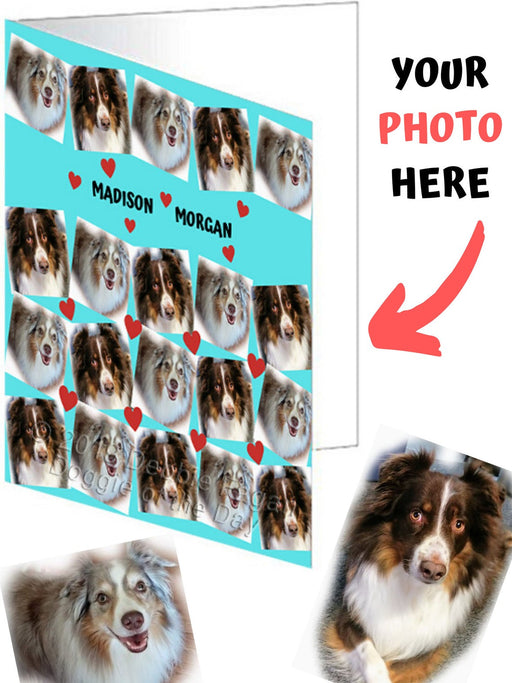 Custom Add Your Photo Here PET Dog Cat Photos on Greeting Card Landscape
