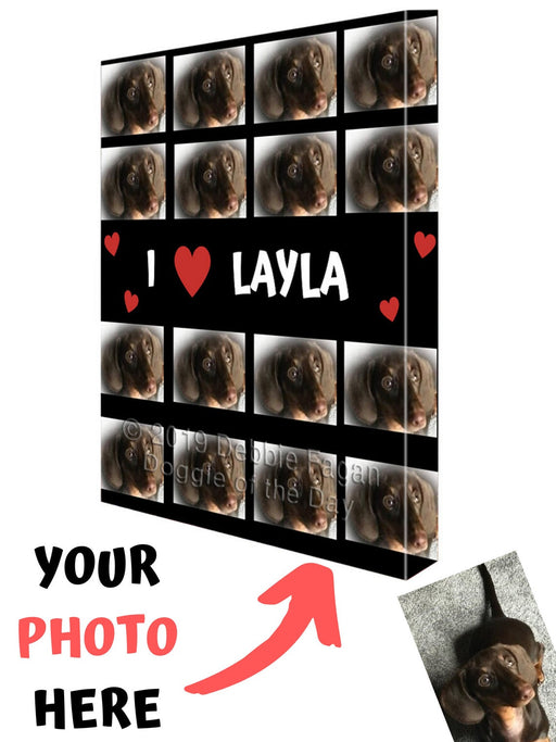 Custom Add Your Photo Here PET Dog Cat Photos on Canvas Wall Art