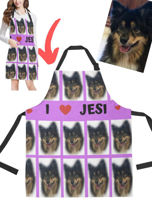 Add Your PERSONALIZED PET Photos on Apron