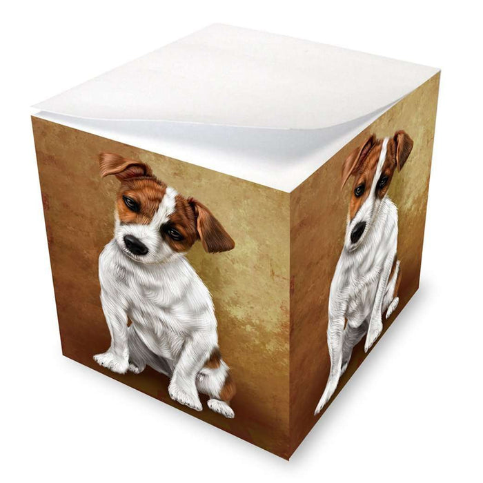 Jack Russel Puppy Dog Note Cube