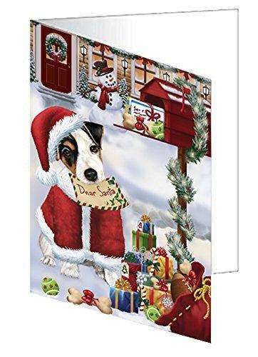 Jack Russell Dear Santa Letter Christmas Holiday Mailbox Dog Note Card