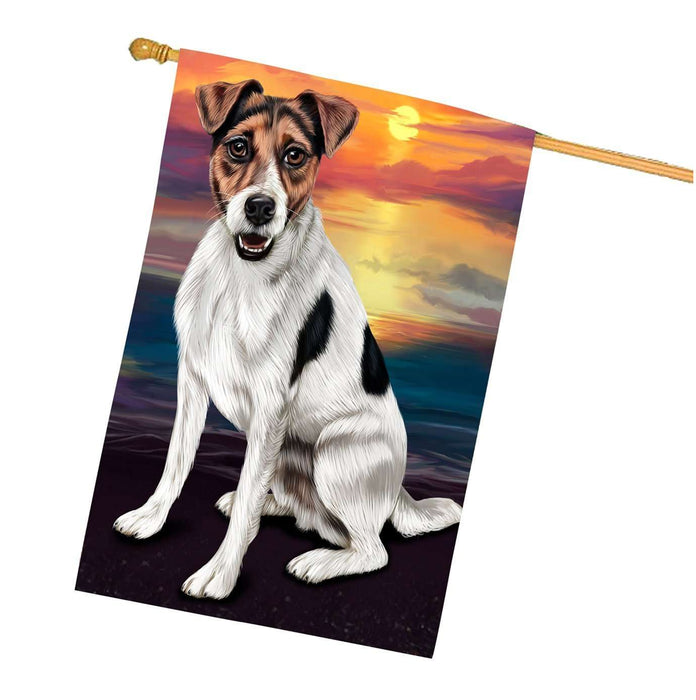 Jack Russell Dog House Flag