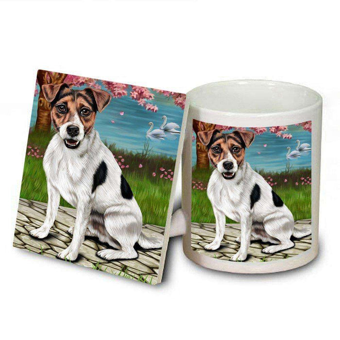 Jack Russell Dog Mug and Coaster Set