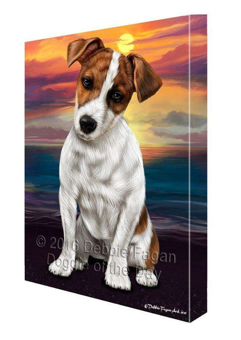 Jack Russell Dog Painting Printed on Canvas Wall Art