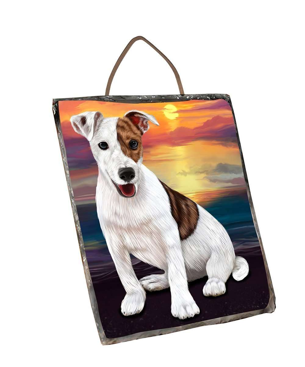 Jack Russell Dog Wall Décor Hanging Photo Slate