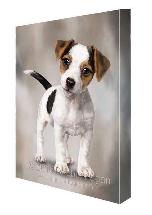 Jack Russell Puppy Dog Art Portrait Print Canvas