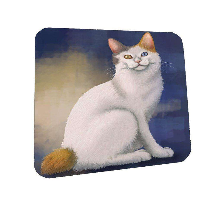 Japanese Bobtail Cat Coasters Set of 4