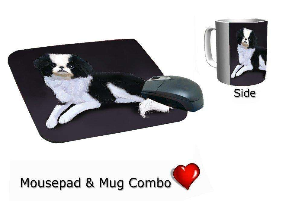 Japanese Chin Dog Mug & Mousepad Combo Gift Set