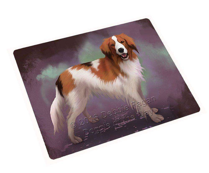 Kooikerhondje Dog Art Portrait Print Woven Throw Sherpa Plush Fleece Blanket