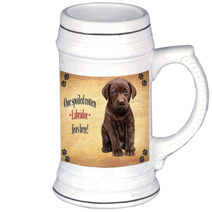 Labrador Brown Spoiled Rotten Dog Beer Stein