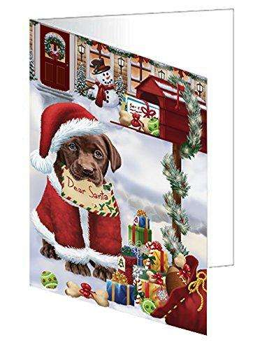 Labrador Dear Santa Letter Christmas Holiday Mailbox Dog Note Card