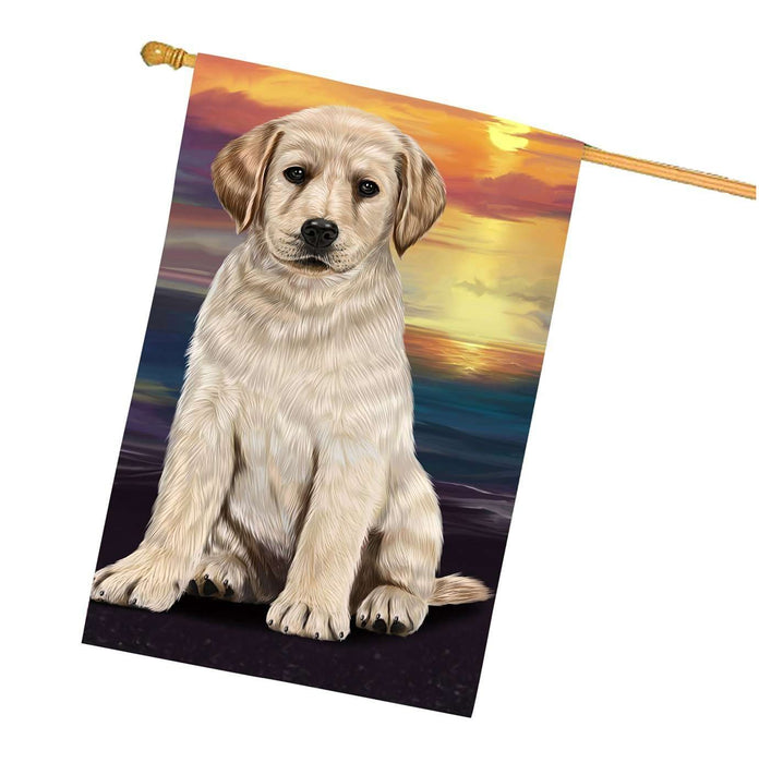 Labrador Dog House Flag