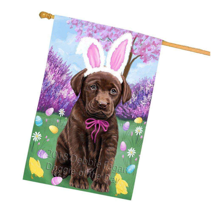 Labrador Retriever Dog Easter Holiday House Flag FLG49137