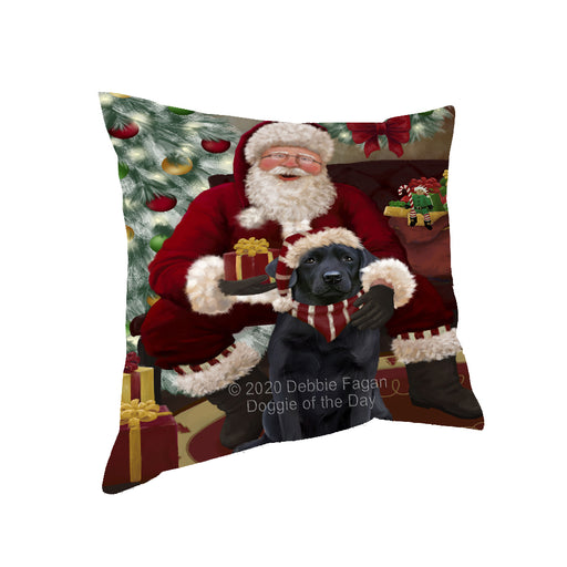 Santa's Christmas Surprise Labrador Dog Pillow PIL87228