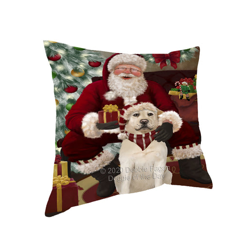 Santa's Christmas Surprise Labrador Dog Pillow PIL87232
