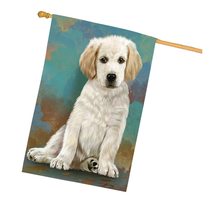 Labradors Puppy Dog House Flag