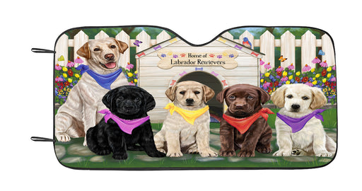 Spring Dog House Labrador Dogs Car Sun Shade