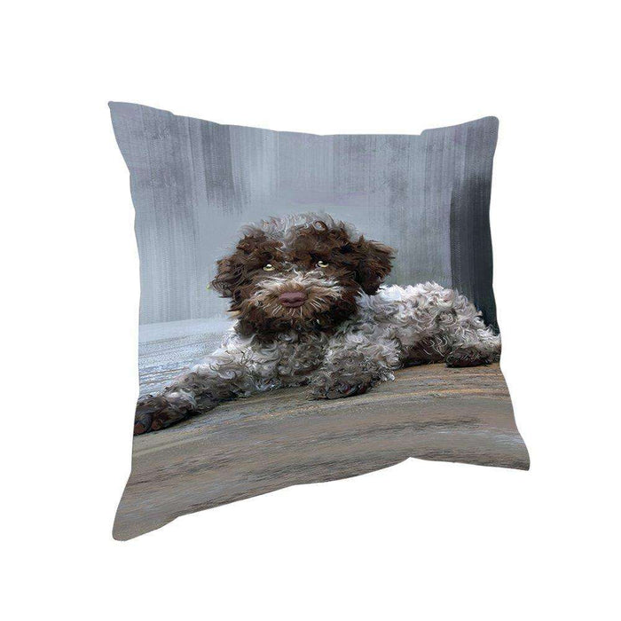 Lagotto Ramagnolo Dog Throw Pillow D476
