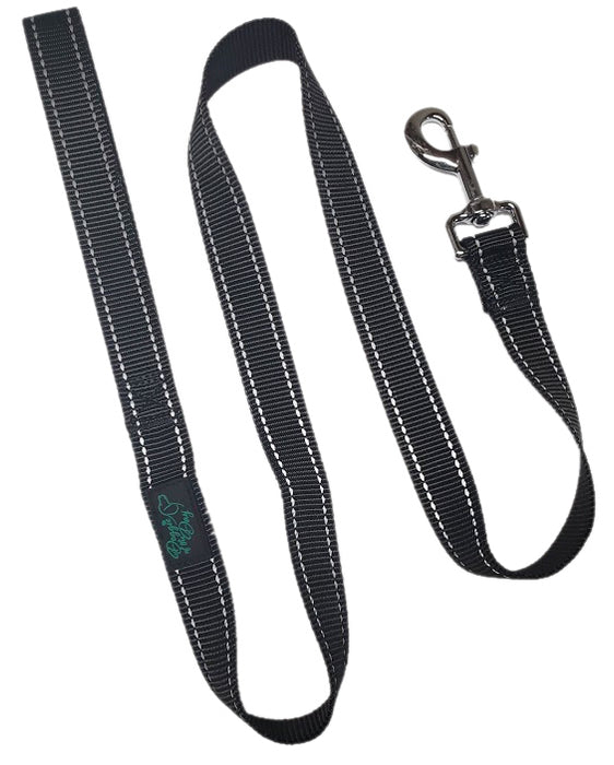 Reflective Nylon Buckle Dog Leash Black- We Donate to Rescues For Each Leash Purchased