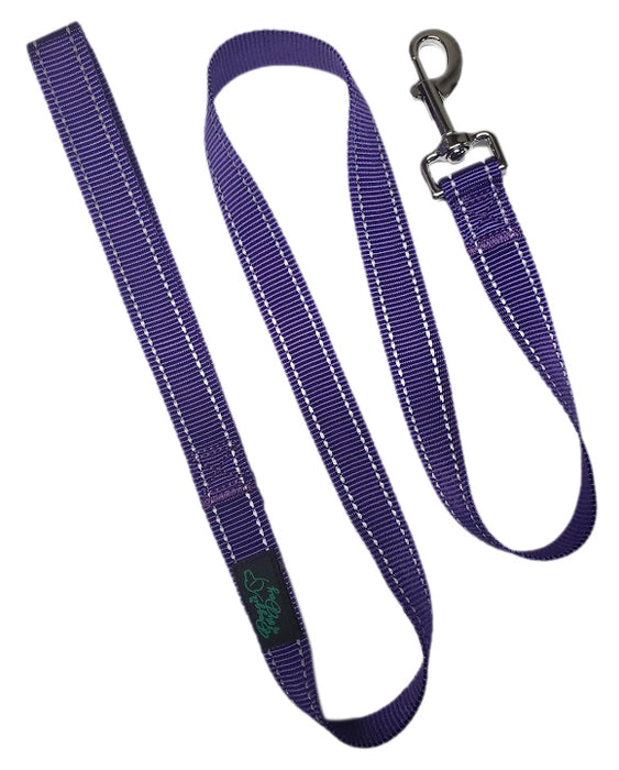 Wholesale 10 Pack Reflective Nylon Buckle Dog Leashes Purple - We Donate to Rescues for Each Leashes Purchased