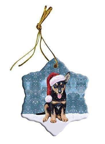 Let It Snow Australian Kelpie Dog Christmas Star Ornament POR2590