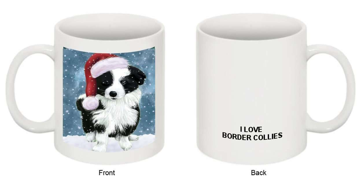 Let It Snow Happy Holidays Border Collie Dog Christmas Mug CMG0418